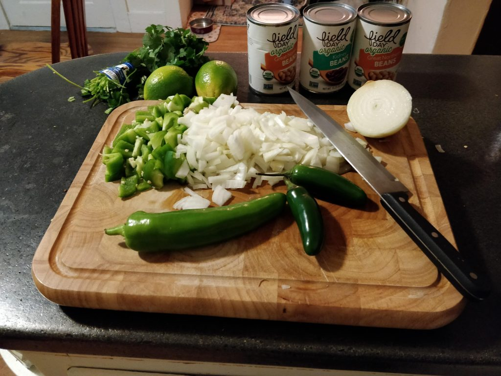 Peppers for chicken chili